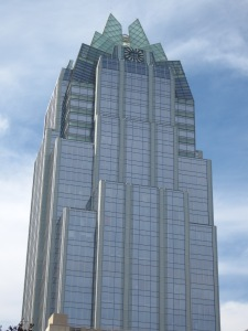 The Frost Bank Tower in downtown Austin, Texas is the city's third tallest building.