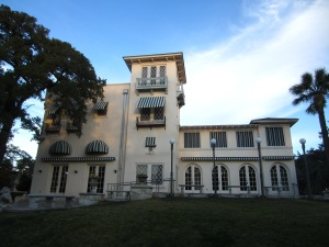 The Italian-style villa at Laguna Gloria that overlooks Lake Austin.