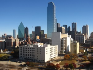 The city of Dallas dazzles in the bright morning sun!