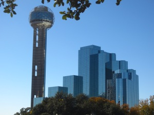 The Hyatt Regency Dallas and Reunion Tower.